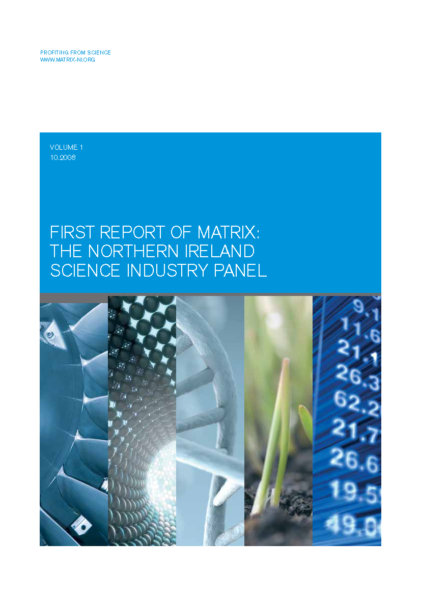 First MATRIX Report 2008