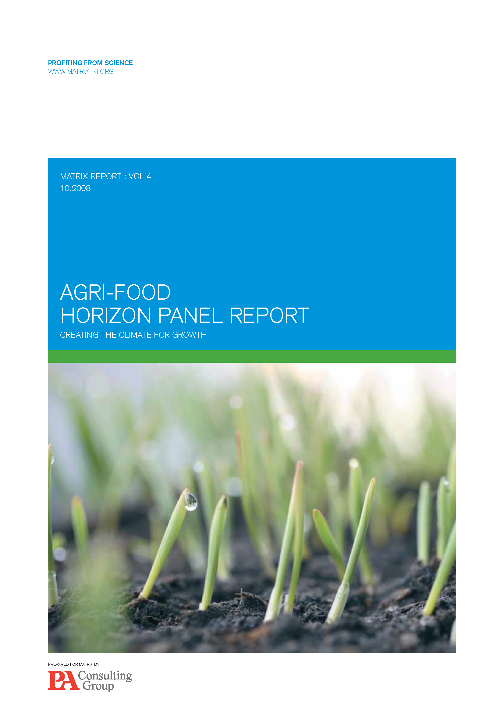 Agri-Food Report 2008