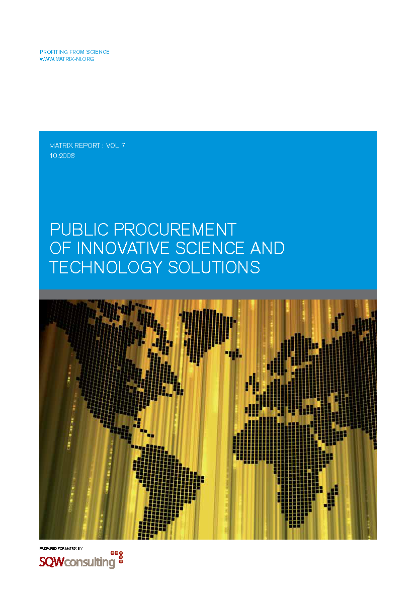 Public procurement report 2008