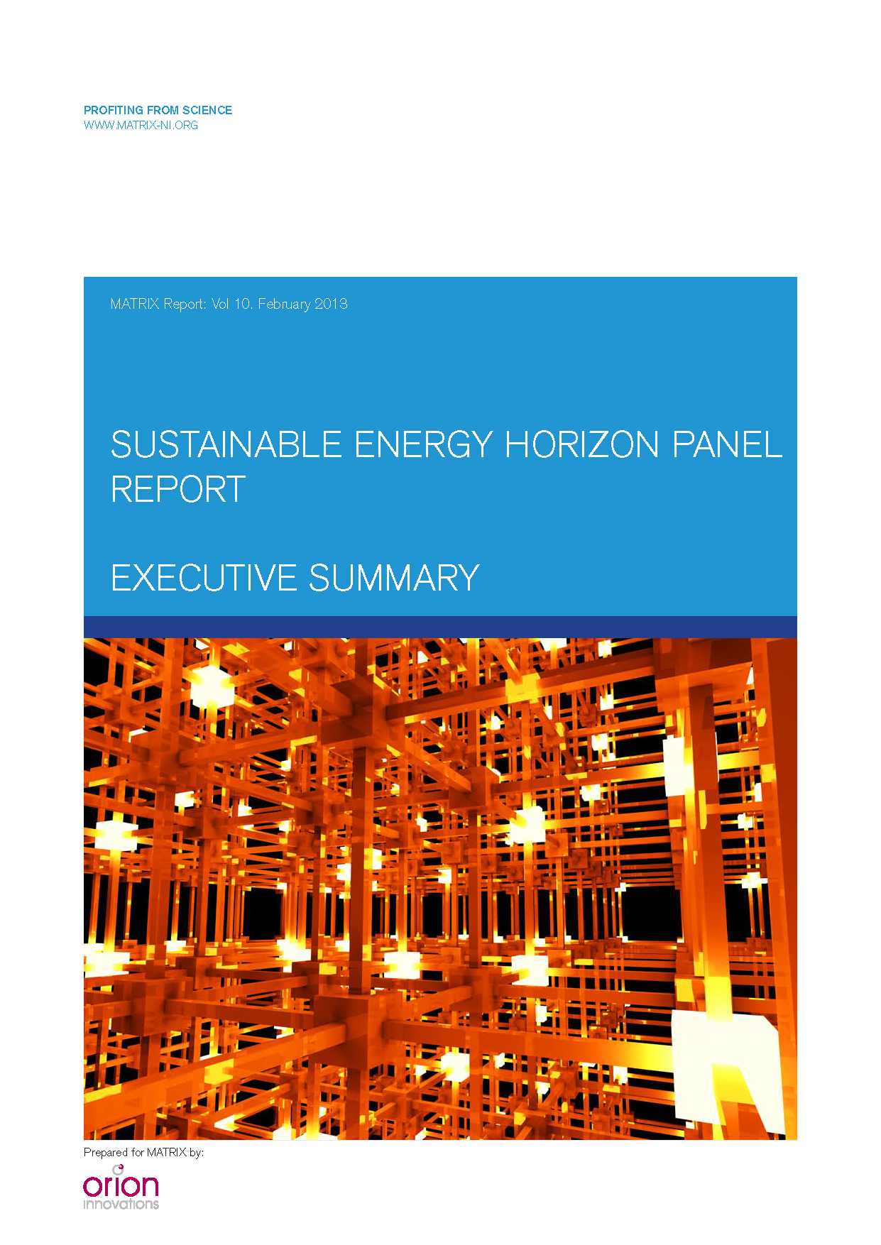 Sustainable energy report 2013