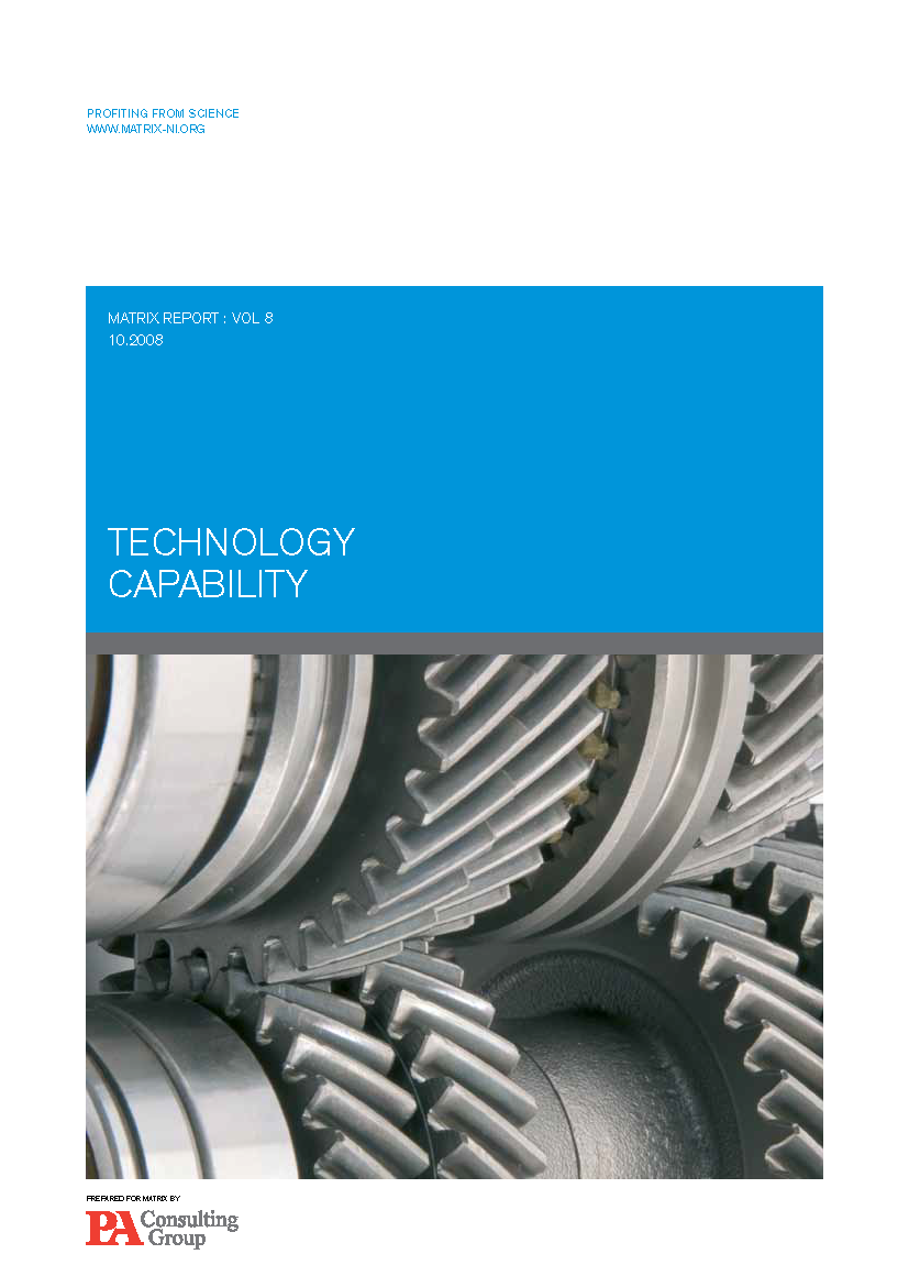 Technology capability report 2008