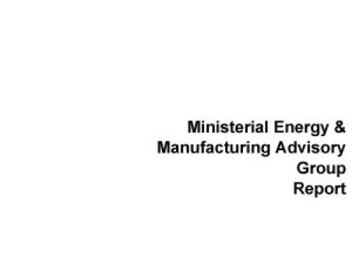 Ministerial Energy & Manufacturing Advisory Group Report