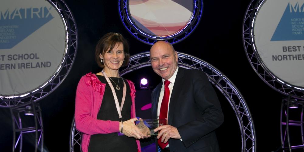 Loreto College Coleraine scoops the BT Young Scientist Matrix Best NI School Award