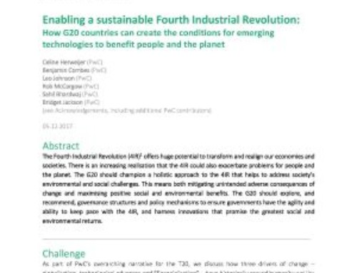 Enabling a sustainable Fourth Industrial Revolution