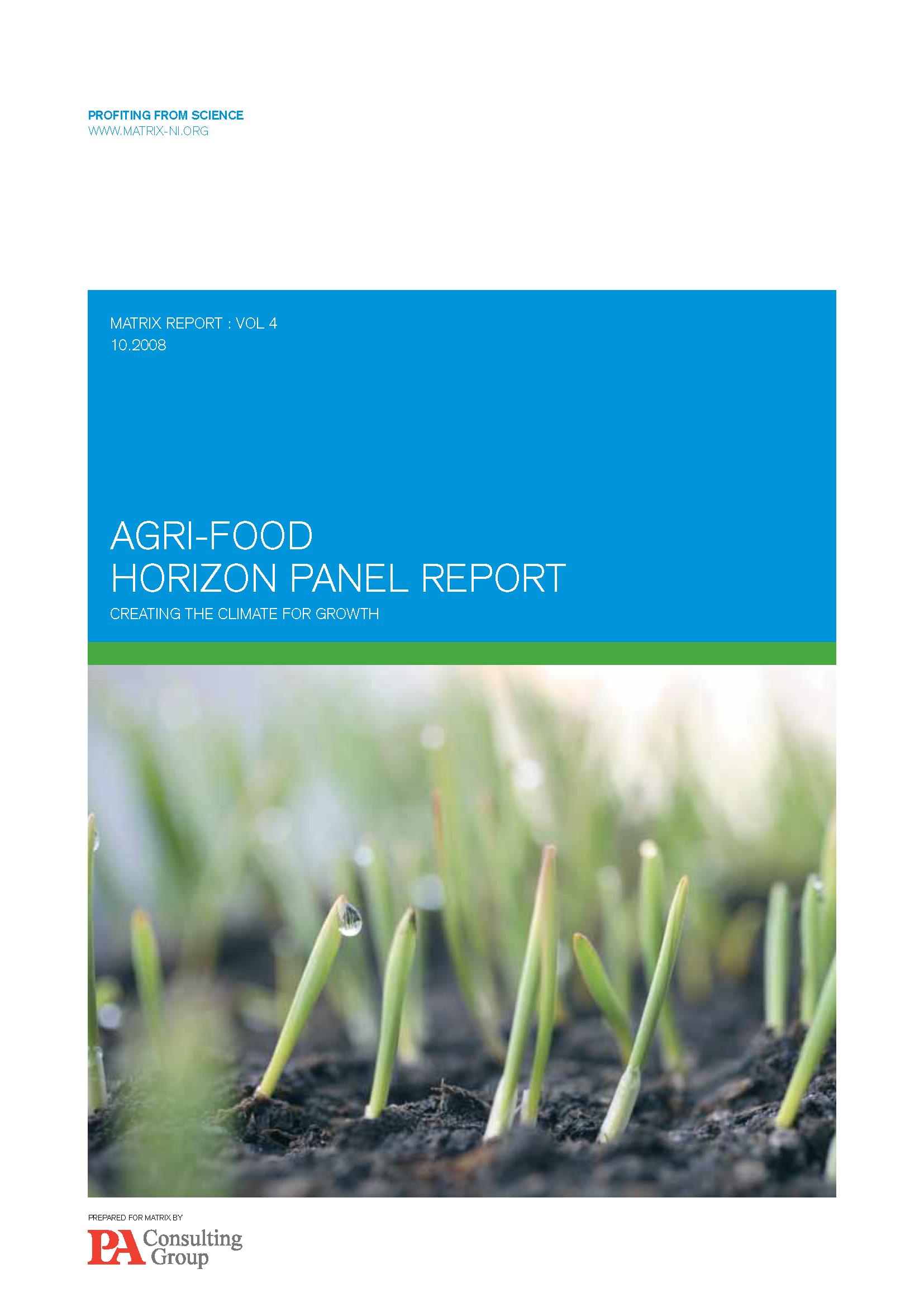 Agri-food report 2008